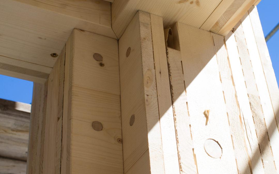 Holz100 im Vergleich zum verleimten Massivholzhaus