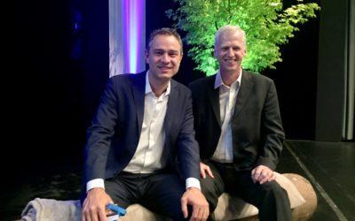 Erwin Thoma und Daniele Ganser treffen sich in Luzern