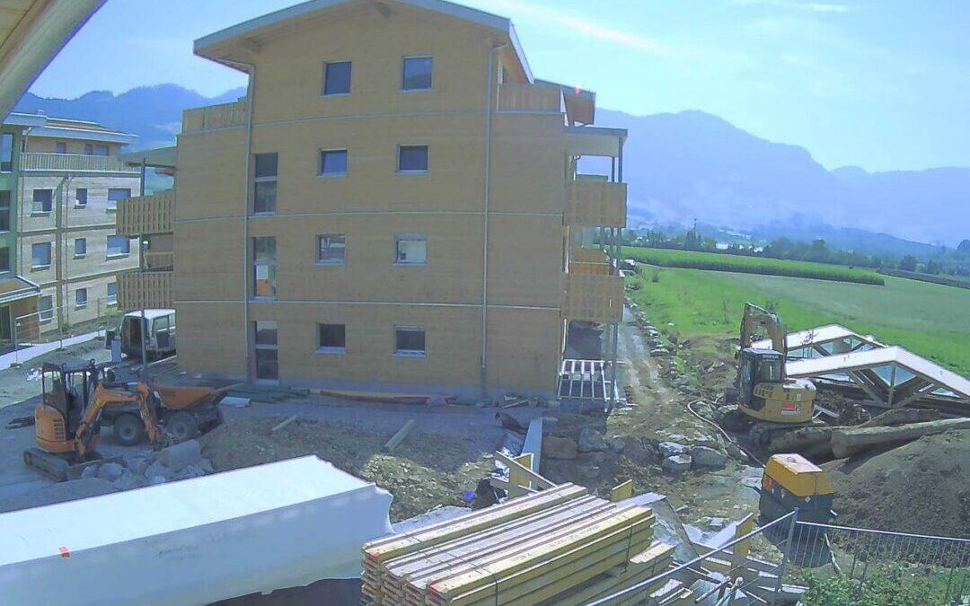 Holz100 Baustelle live