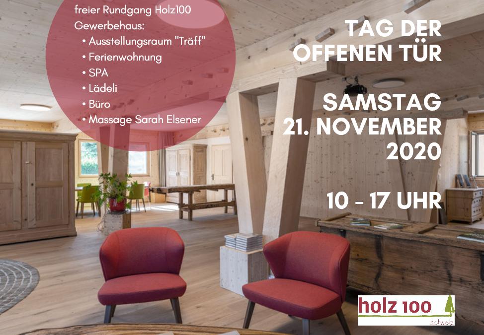 21. November 2020 – Tag der offenen Tür!